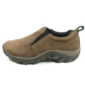 Merrell Jungle Moc Brown Leather Slip On Shoes
